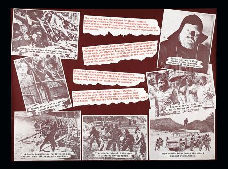 BATTLE FOR THE PLANET OF THE APES (1973) - UK Marler Haley Set of Five Posters