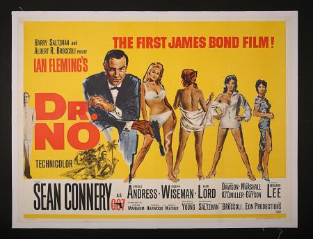 JAMES BOND: DR NO (1962) - UK Quad Poster