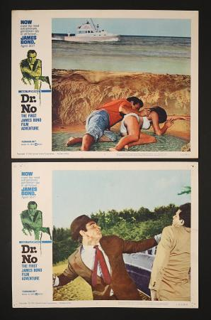 JAMES BOND: DR NO (1962) - Two US Lobby Cards