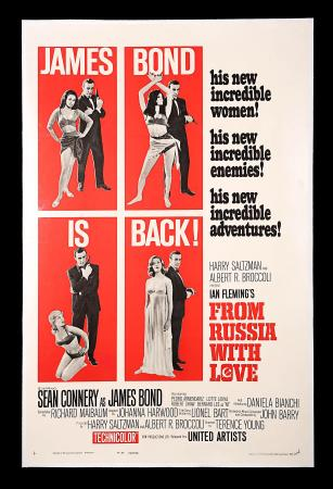 JAMES BOND: FROM RUSSIA WITH LOVE (1963) - US One-Sheet Style-B Poster