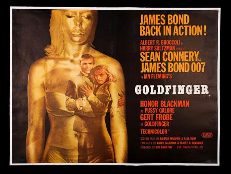 JAMES BOND: GOLDFINGER (1964) - UK Quad Poster
