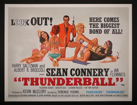 JAMES BOND: THUNDERBALL (1965) - UK Quad Poster