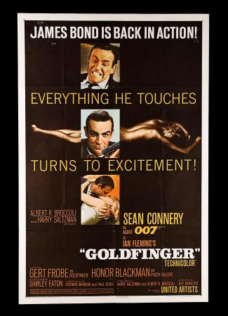 JAMES BOND: GOLDFINGER (1964) - US One-Sheet Poster