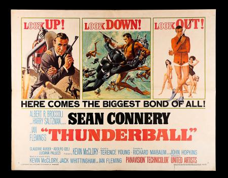JAMES BOND: THUNDERBALL (1965) - US Half-Sheet Poster