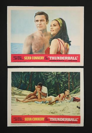 JAMES BOND: THUNDERBALL (1965) - Two US Lobby Cards