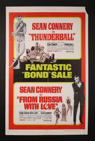 JAMES BOND: THUNDERBALL (1965) / FROM RUSSIA WITH LOVE (1963) - US One-Sheet Poster
