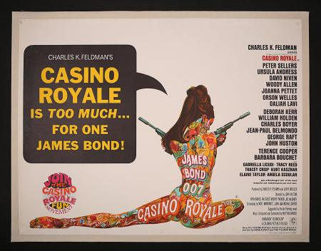 JAMES BOND: CASINO ROYALE (1967) - UK Quad Poster