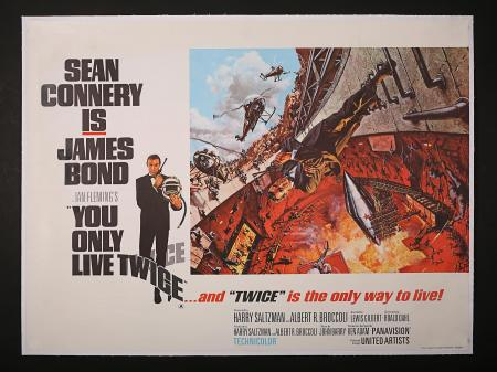 JAMES BOND: YOU ONLY LIVE TWICE (1967) - UK Quad Style-A Poster