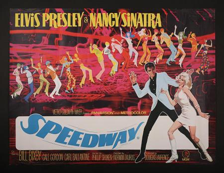 SPEEDWAY (1968) - UK Quad Printer's Proof Poster