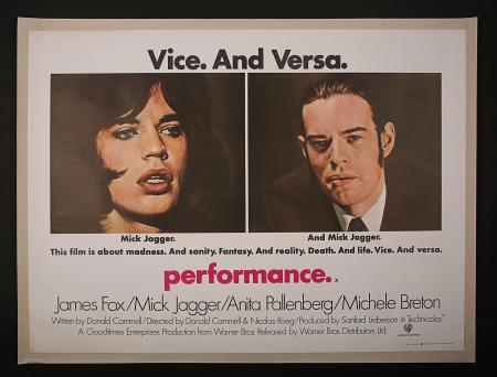 PERFORMANCE (1970) - UK Quad Printer's Proof Poster