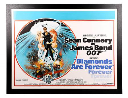 JAMES BOND: DIAMONDS ARE FOREVER (1971) - UK Quad Poster