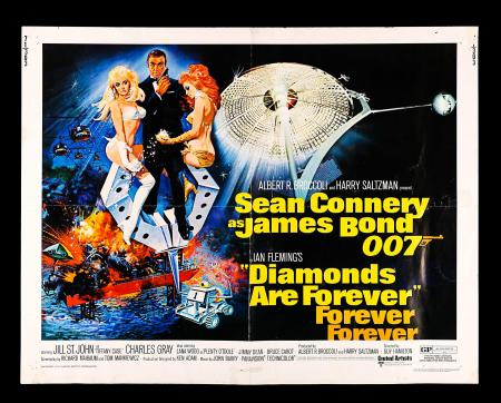 JAMES BOND: DIAMONDS ARE FOREVER (1971) - US Half-Sheet Poster