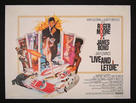 JAMES BOND: LIVE AND LET DIE (1973) - UK Quad Poster