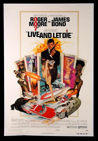 JAMES BOND: LIVE AND LET DIE (1973) - US One-Sheet Poster