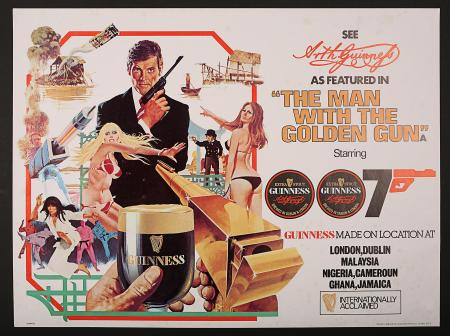 JAMES BOND: THE MAN WITH THE GOLDEN GUN (1974) - UK James Bond/Guinness Poster