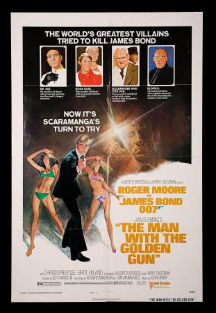 JAMES BOND: THE MAN WITH THE GOLDEN GUN (1974) - US One-Sheet Style-B Poster
