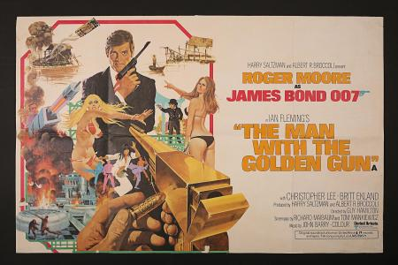 JAMES BOND: THE MAN WITH THE GOLDEN GUN (1974) - UK Quad Poster