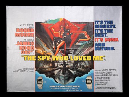 "JAMES BOND: THE SPY WHO LOVED ME (1977) - UK Quad ""Seiko"" Poster"