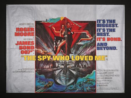 JAMES BOND: THE SPY WHO LOVED ME (1977) - UK Quad Poster