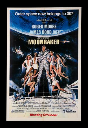 "JAMES BOND: MOONRAKER (1979) - US One-Sheet ""Bond And Girls"" Advance Poster"