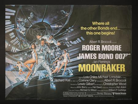 JAMES BOND: MOONRAKER (1979) - UK Quad Poster