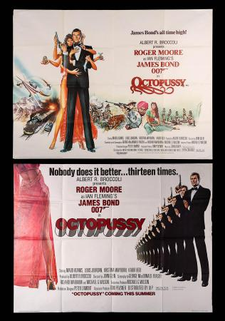 JAMES BOND: OCTOPUSSY (1983) - Two UK Quad Posters
