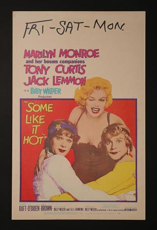MARILYN MONROE: SOME LIKE IT HOT (1959) - US Window Card