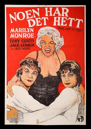 MARILYN MONROE: SOME LIKE IT HOT (1959) - Norwegian Poster