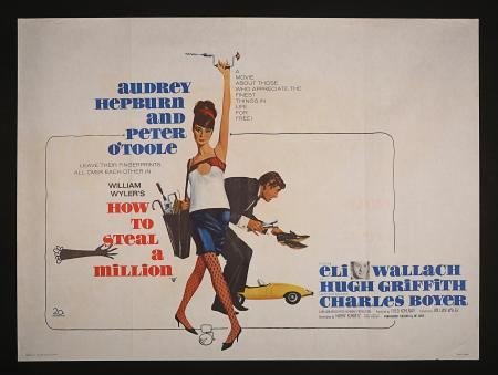 AUDREY HEPBURN: HOW TO STEAL A MILLION (1966) - UK Quad Printer's Proof Poster