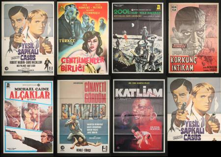 VARIOUS PRODUCTIONS (MOST 1960'S-70'S) - Seven Turkish Posters