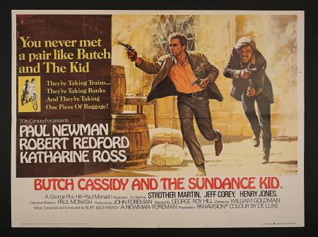 BUTCH CASSIDY AND THE SUNDANCE KID (1969) - UK Quad Poster