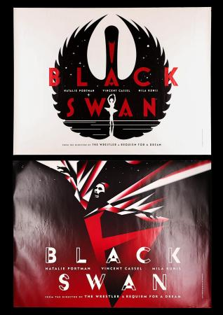 THE BLACK SWAN (2010) - Two UK Quad Posters