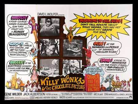 WILLY WONKA AND THE CHOCOLATE FACTORY (1971) - UK Quad Poster