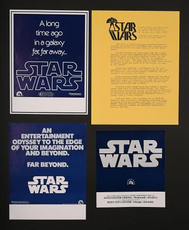 STAR WARS: EPISODE IV: A NEW HOPE (1977) - Four Early US Star Wars Flyers and Press Release