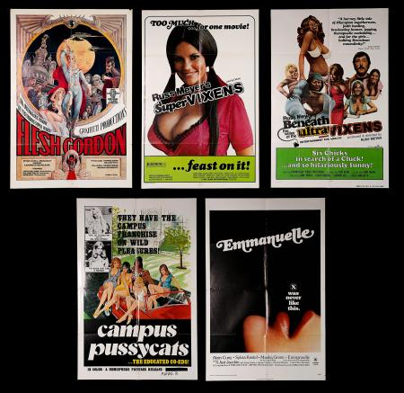 "VARIOUS PRODUCTIONS (1974-79) - Five ""Adult"" US One-Sheet Posters"