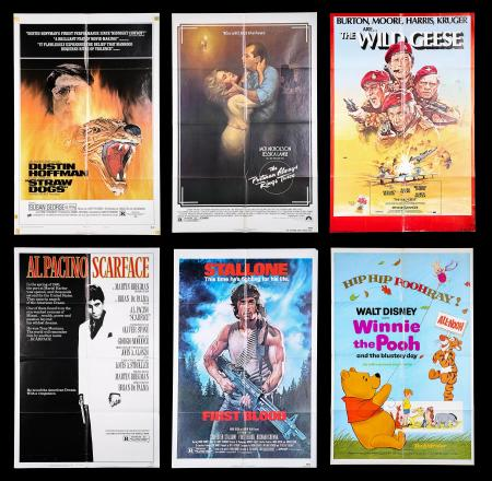 VARIOUS PRODUCTIONS (1969-83) - Nine US One-Sheet Posters