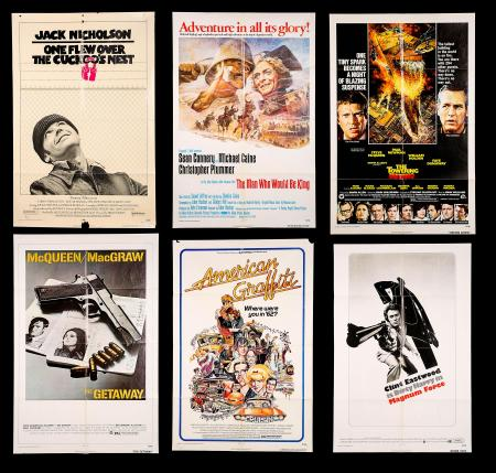 VARIOUS PRODUCTIONS (1961-77) - Nine US One-Sheet Posters