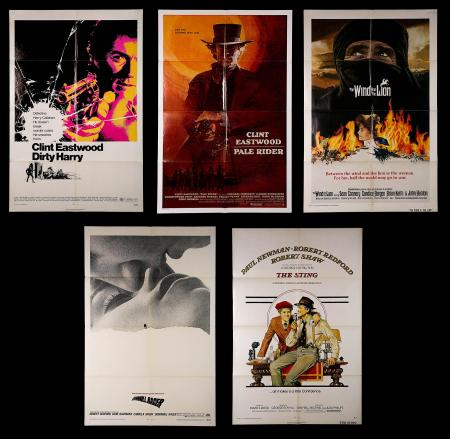 VARIOUS PRODUCTIONS (1962-85) - Eight US One-Sheet Posters