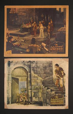 THE ADVENTURES OF ROBIN HOOD (1938) - Two US Lobby Cards