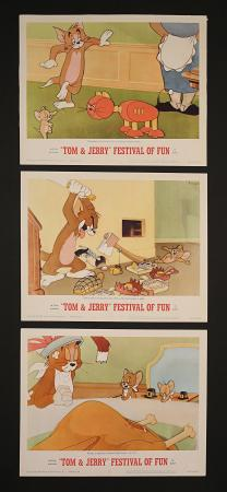 TOM AND JERRY FESTIVAL OF FUN (1962) - Three US Lobby Cards