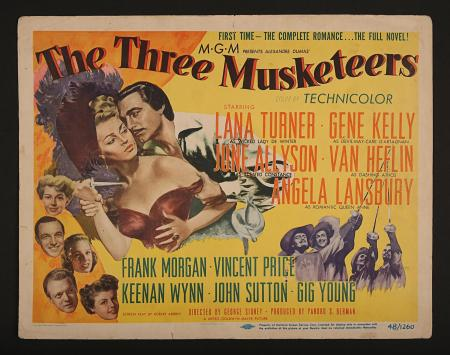 THE THREE MUSKETEERS (1948) - US Title Lobby Card