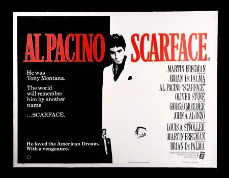 SCARFACE (1983) - UK Quad Poster