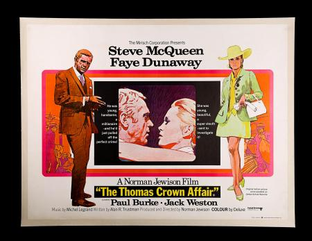 THE THOMAS CROWN AFFAIR (1968) - UK Quad Poster