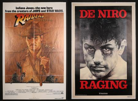 RAIDERS OF THE LOST ARK (1980) AND RAGING BULL (1981) - Two US One-Sheets