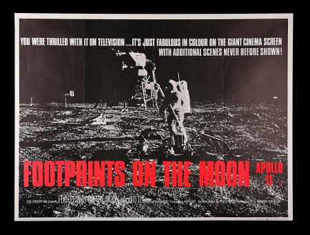 FOOTPRINTS ON THE MOON: APOLLO 11 (1969) - UK Quad Poster