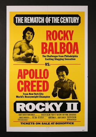"ROCKY II (1979) - US One-Sheet ""Rematch Style"""