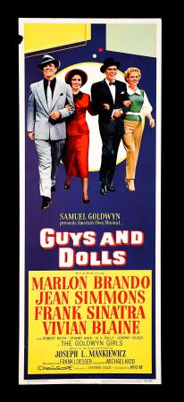 GUYS AND DOLLS (1955) - US Insert Poster