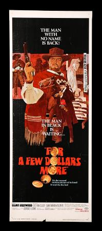 FOR A FEW DOLLARS MORE (1967) - US Insert Poster