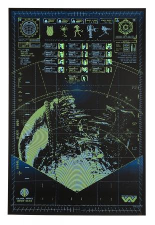ALIENS (1986) - Glow In The Dark Motion Tracker Print