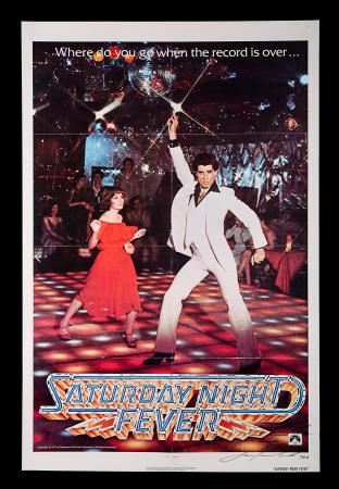 SATURDAY NIGHT FEVER (1977) - US One-Sheet Autographed Poster
